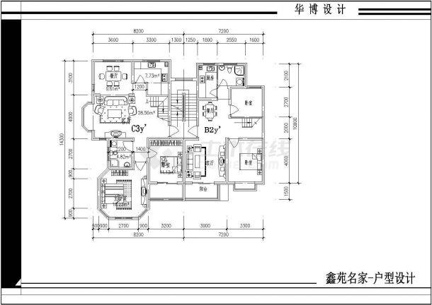 某户型住址楼全部小区cad平面设计图日本水果瓜网纹包装设计图片