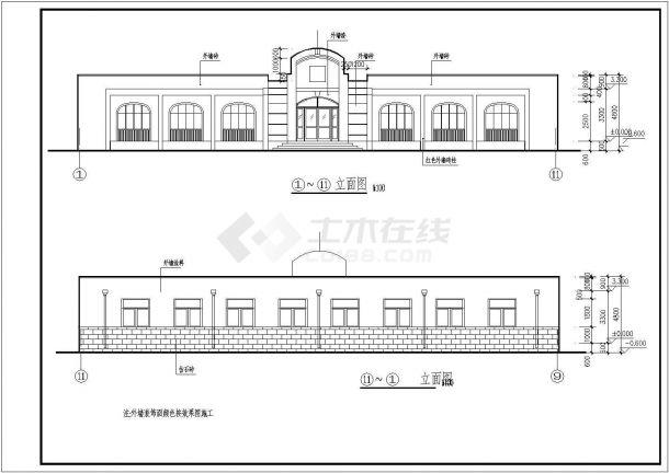 甘肃字体砖混单层小型病房楼建筑结构设计施工化字结构v字体图片