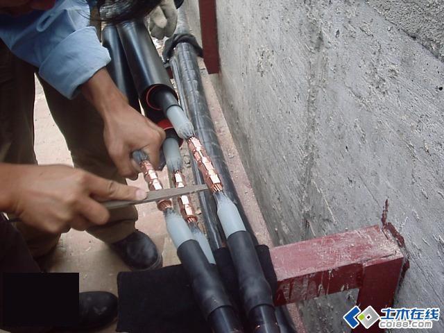 10kv电缆中间接头制作全程图图片