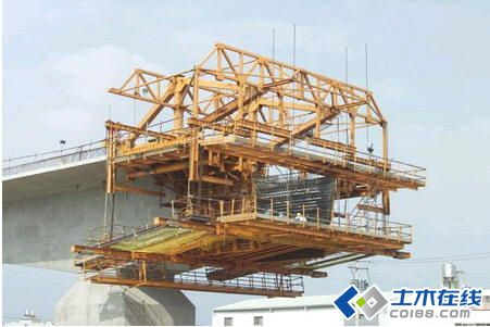 施工方法之掛籃懸臂澆筑法圖片
