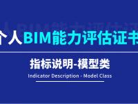 【BIM评估认证】个人BIM能力评估指标说明-模型类