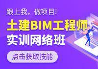 土建BIM工程师实训网络班