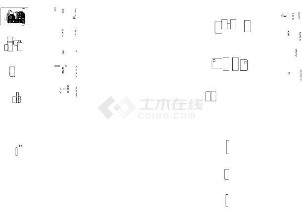 天津某小区三层砖混结构单体别墅全套建筑设计CAD图纸(3套方案)-图一