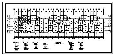 住宅设计_某6层砖混结构双拼住宅结构施工cad图纸-图二