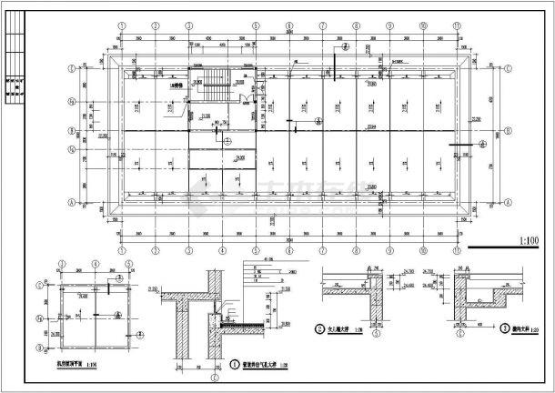 大同市建设路某市政单位6层砖混结构办公楼全套建筑设计CAD图纸-图一