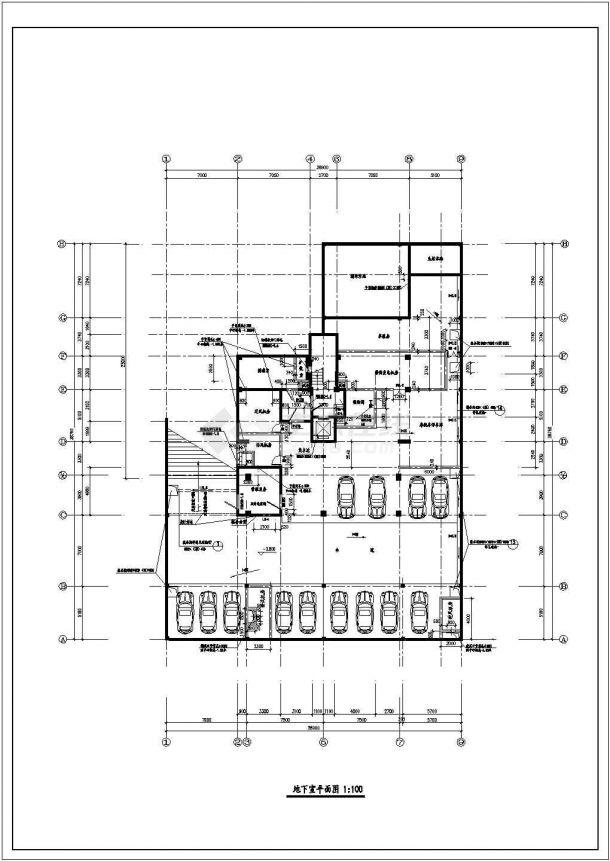 丽江高层住宅楼建筑平面布置设计全套施工cad图-图二
