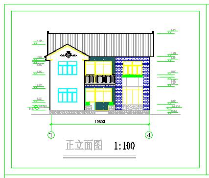 某地小别墅建筑方案cad设计图纸-图一