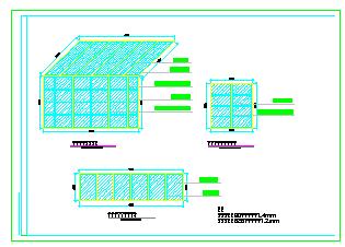 某地阳光别墅建筑方案cad设计图-图一