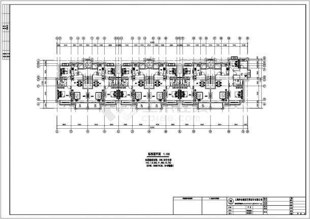兰州翠庭家园小区7层砖混结构住宅楼建筑设计CAD图纸(含阁楼和地下室)-图二