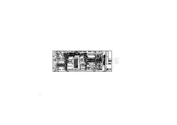 西安白桦林居居住小区主干道周边景观设计cad乔木配置总图(甲级院设计)-图二