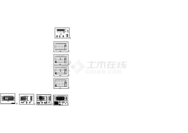五层四跨框架厂房建筑结构毕业设计cad图纸(含计算书)-图一