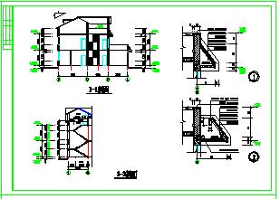乡村某别墅建筑设计cad施工图-图一