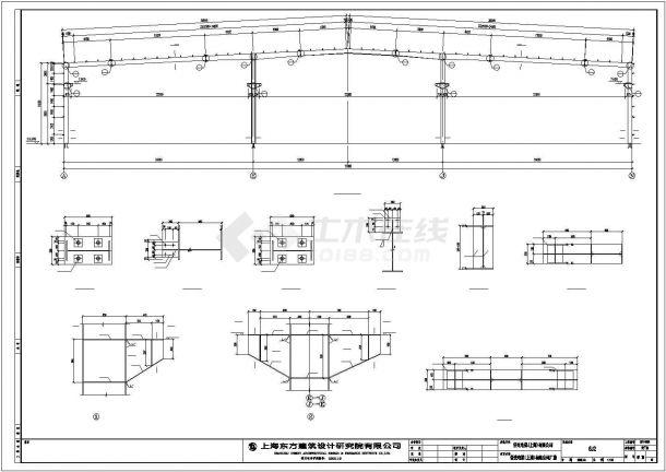 某经济区厂房混合结构设计施工CAD图纸-图一