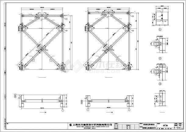 某经济区厂房混合结构设计施工CAD图纸-图二