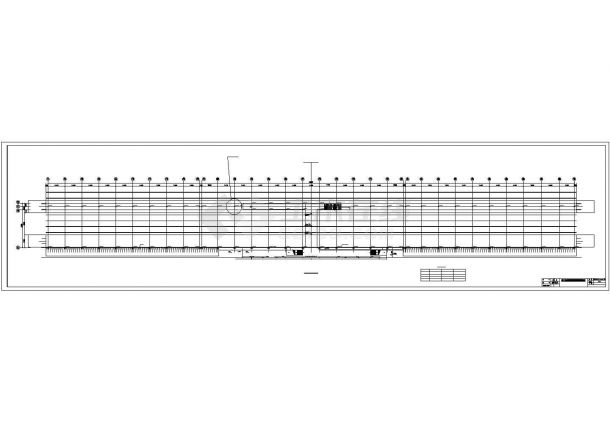 某经济区铁路站台钢结构设计施工CAD图纸-图一