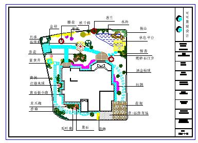 某别墅庭院景观设计cad平面图纸-图二