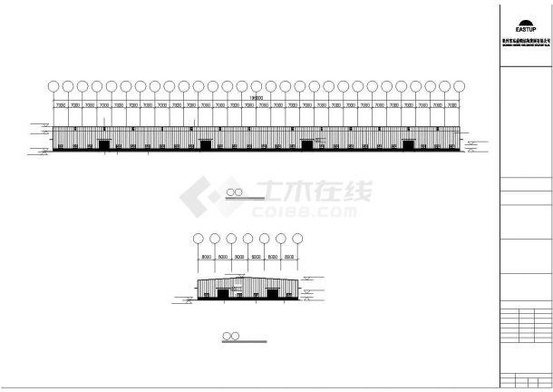 某工业区轻型房屋钢结构设计施工CAD图纸-图一