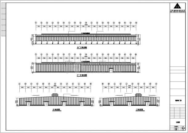 某工业区门式刚架轻型房屋钢结构设计施工CAD图纸-图一