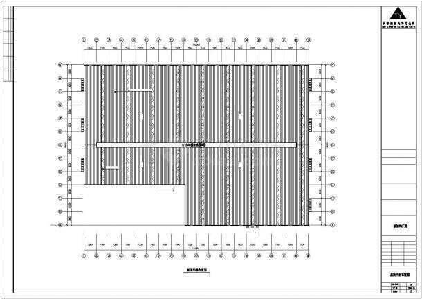某工业区门式刚架轻型房屋钢结构设计施工CAD图纸-图二