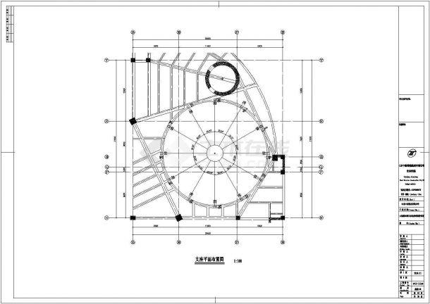 某工业区单层网壳结构建筑设计施工CAD图纸-图一