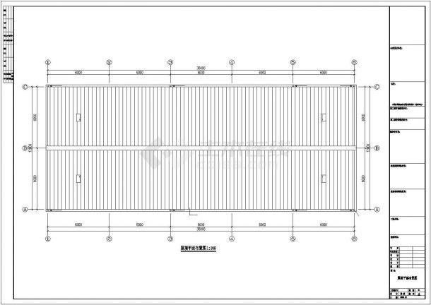某工业区公司钢结构工程设计施工CAD图纸-图一