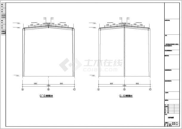 某工业区公司钢结构工程设计施工CAD图纸-图二
