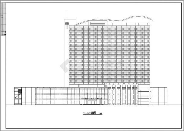 甘肃酒店平立面方案设计全套施工cad图-图二