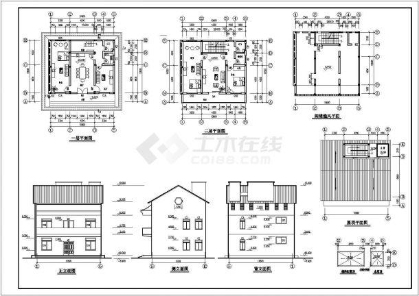 山西私人住宅施工期临建(生活办公)用房设计CAD全套建筑施工图-图二