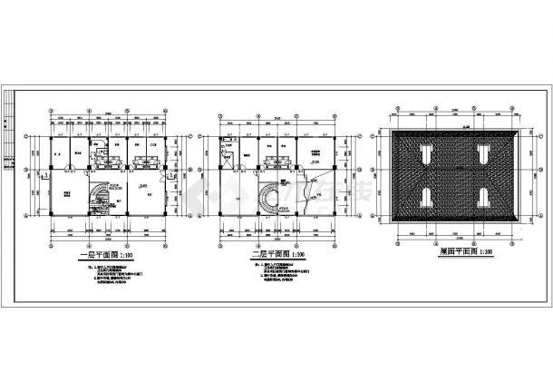 香港私人建筑方案施工期临建(生活办公)用房设计CAD全套建筑施工图-图一