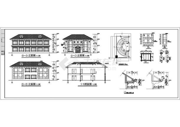 香港私人建筑方案施工期临建(生活办公)用房设计CAD全套建筑施工图-图二