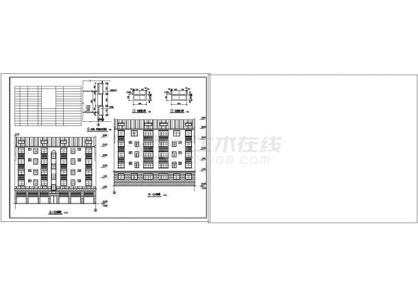 上海私人住宅楼建筑施工期临建(生活办公)用房设计CAD全套建筑施工图-图二