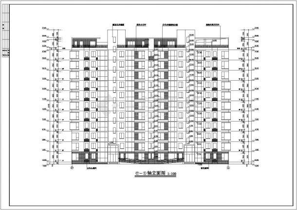 秀峰山庄17栋小高层施工设计全套施工cad图-图二
