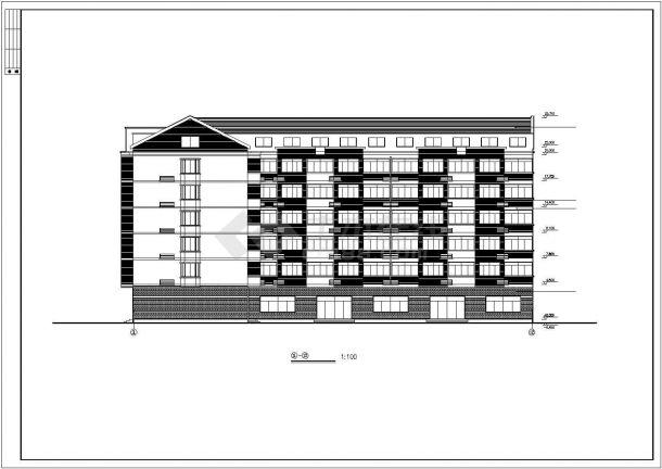 杭州市兴航花园小区6层砖混结构住宅楼建筑设计CAD图纸(含阁楼)-图一