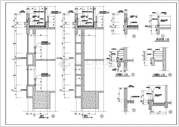 郑州市汤泉花园小区26层剪力墙结构住宅楼建筑设计CAD图纸(含机房层)-图一