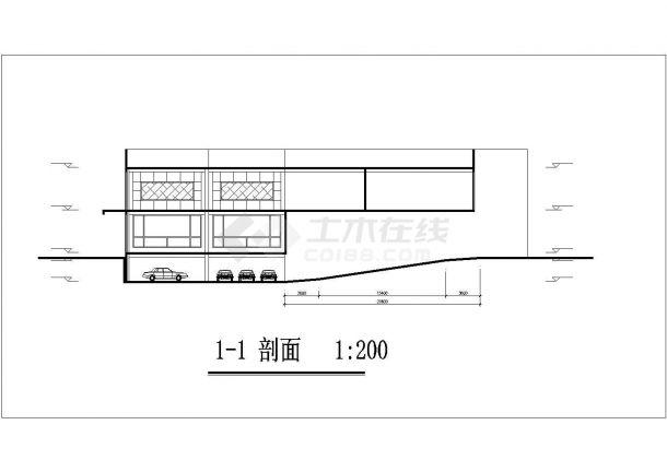 苏州天宏花园小区27层剪力墙结构商住公寓楼建筑设计CAD图纸(1-2层商用)-图一