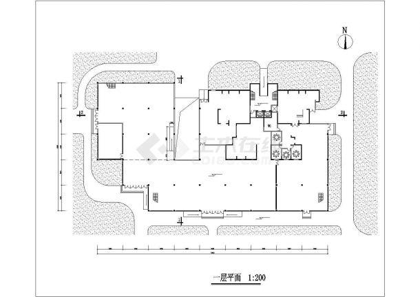苏州天宏花园小区27层剪力墙结构商住公寓楼建筑设计CAD图纸(1-2层商用)-图二