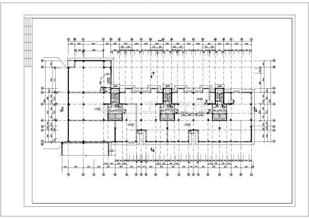 重庆居安花园小区18层框架住宅楼平剖面设计CAD图纸(含跃层和机房层)-图一