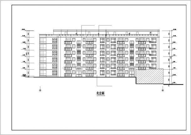 杭州柠乐新村小区6层砖混商住楼建筑设计CAD图纸(1-2层商用/2套方案)-图二