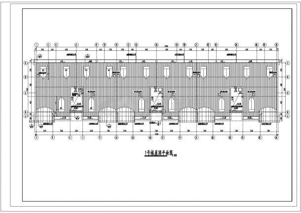 常州斓芙盛苑小区3950平6层砖混结构住宅楼建筑设计CAD图纸(含阁楼)-图一