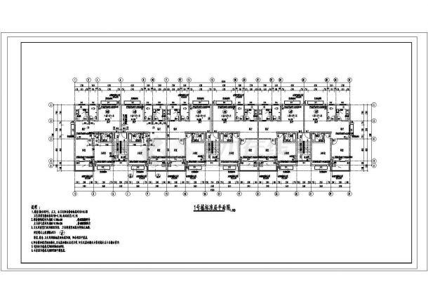 常州斓芙盛苑小区3950平6层砖混结构住宅楼建筑设计CAD图纸(含阁楼)-图二