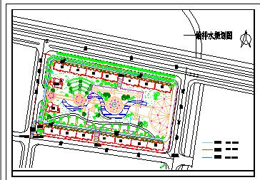 某小游园景观绿化设计cad平面图-图一