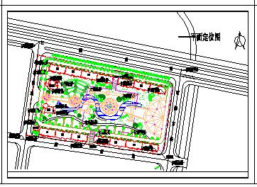 某小游园景观绿化设计cad平面图-图二