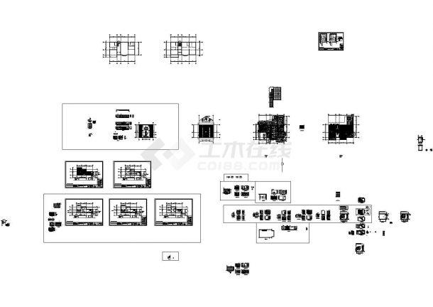 2层:长20.94米 宽20.72米 现代风格别墅室内装施CAD图纸-图一