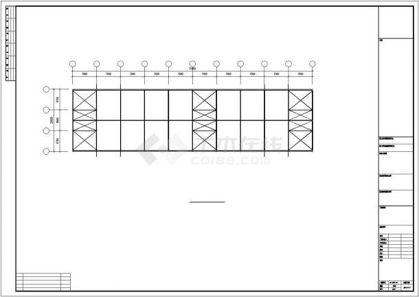 某石材城钢结构厂房结构设计施工CAD图纸-图二