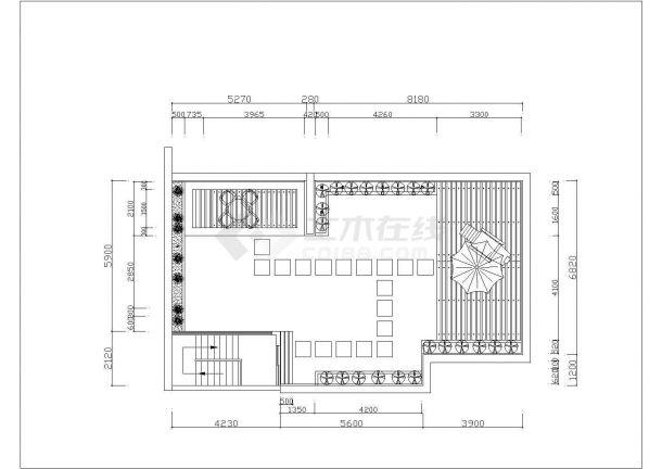 某别墅建筑屋顶花园景观设计施工CAD图纸-图一