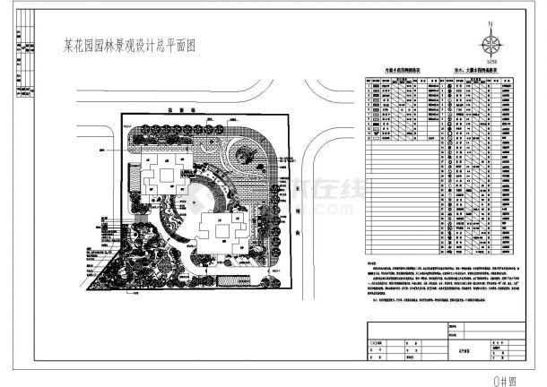 某花园小区屋顶小庭院景观设计施工CAD图纸-图一