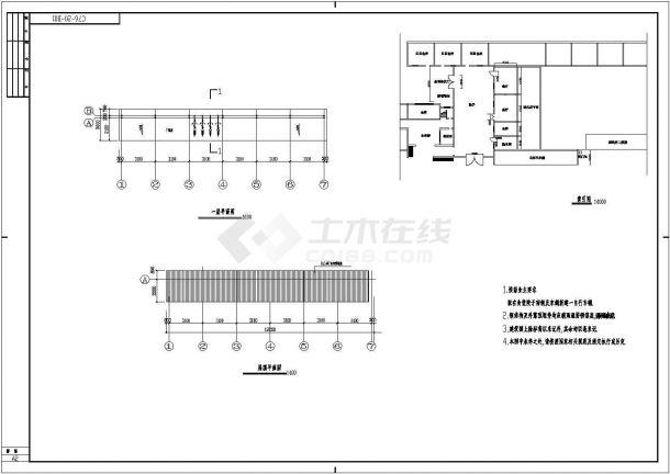 商丘自行车棚底商私人住宅楼设计CAD详细建筑施工图-图一