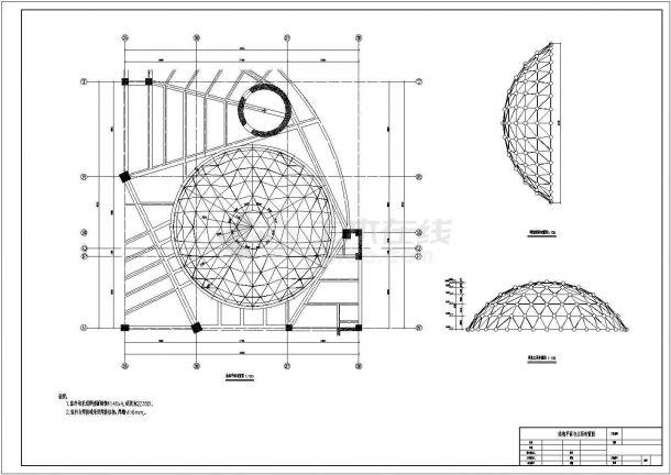 天水单层网壳底商私人住宅楼设计CAD详细建筑施工图-图二