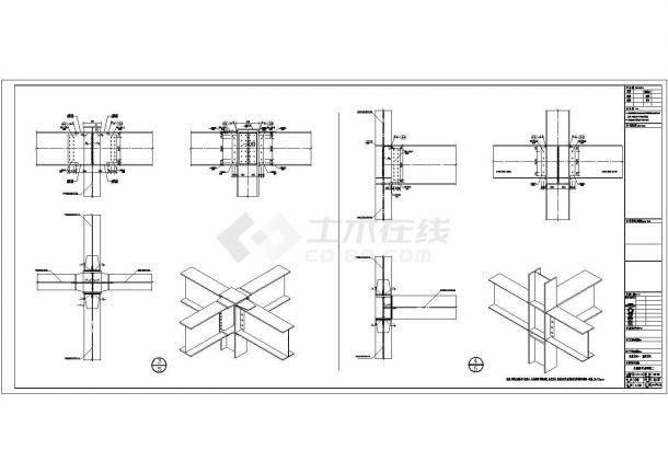 玉林钢承板两层门式钢架厂结构设计全套施工cad图-图二