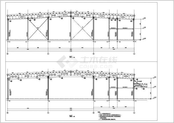 邵通钢架详细底商私人住宅楼设计CAD详细建筑施工图-图一